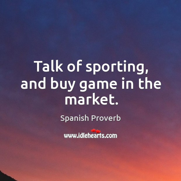 Image, Talk of sporting, and buy game in the market.