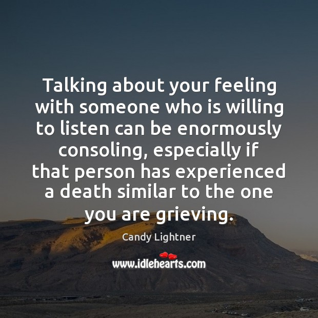 Image, Talking about your feeling with someone who is willing to listen can