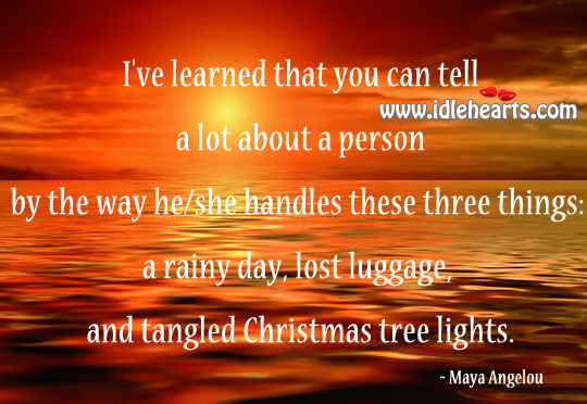 A Rainy Day, Lost Luggage, And Tangled Christmas Tree Lights.