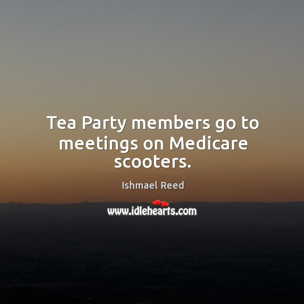 Tea Party members go to meetings on Medicare scooters. Image