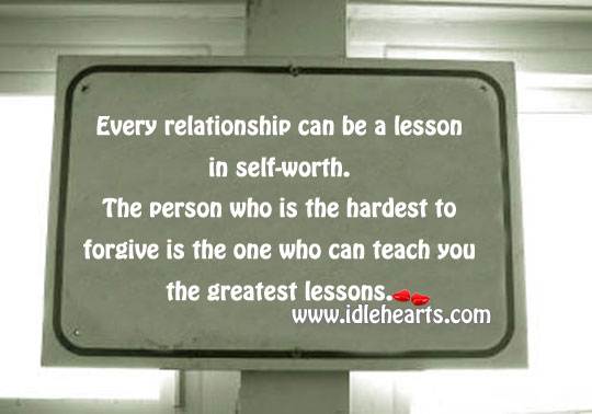Every relationship can be a lesson Image
