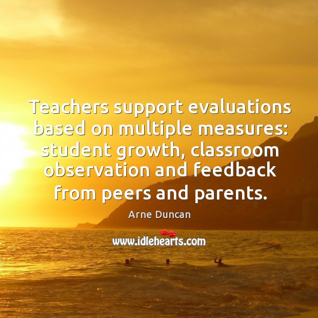 Teachers support evaluations based on multiple measures: student growth Image