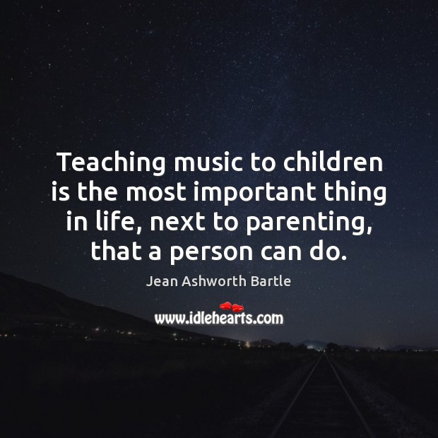 Teaching music to children is the most important thing in life, next Image