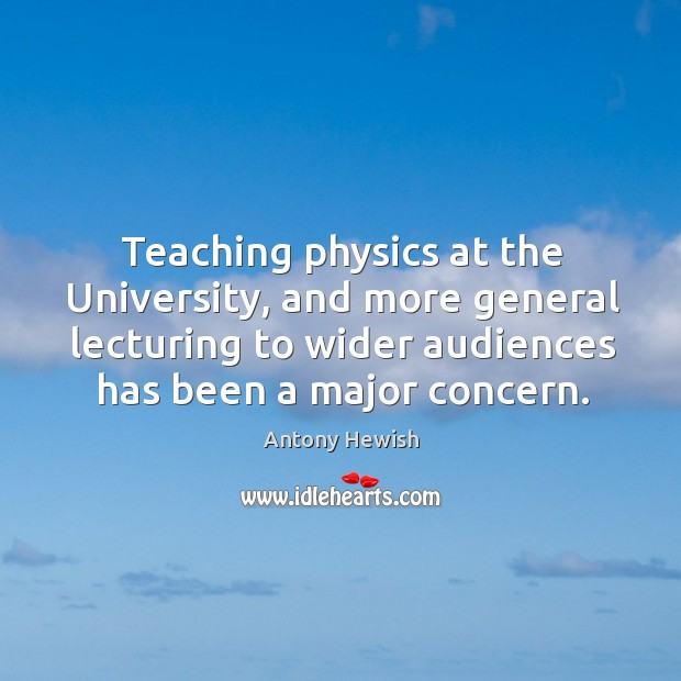 Image, Teaching physics at the University, and more general lecturing to wider audiences