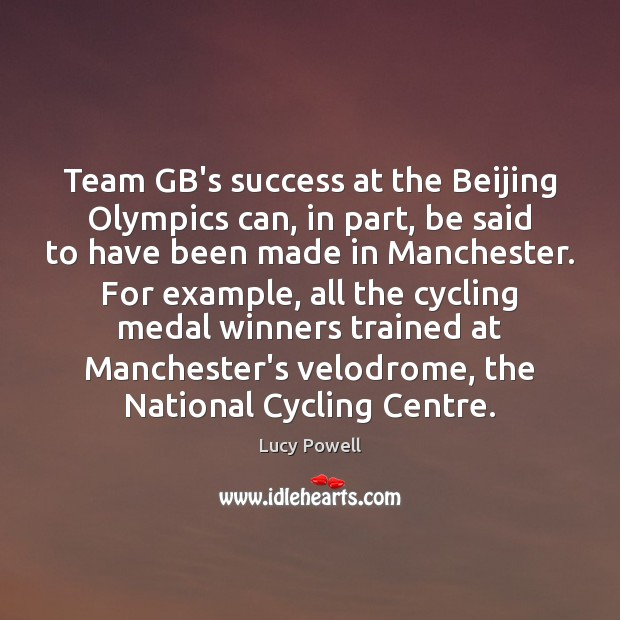 Image, Team GB's success at the Beijing Olympics can, in part, be said