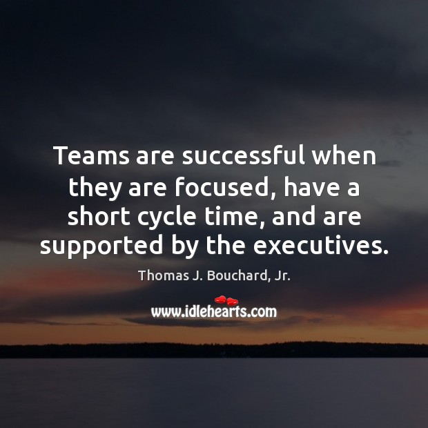 Teams are successful when they are focused, have a short cycle time, Image