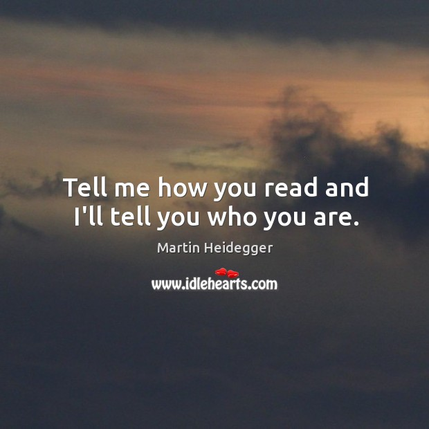 Image, Tell me how you read and I'll tell you who you are.