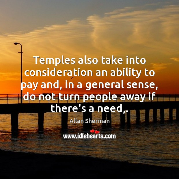 Image, Temples also take into consideration an ability to pay and, in a
