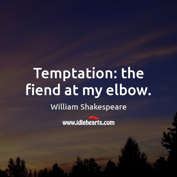 Temptation: the fiend at my elbow. Image