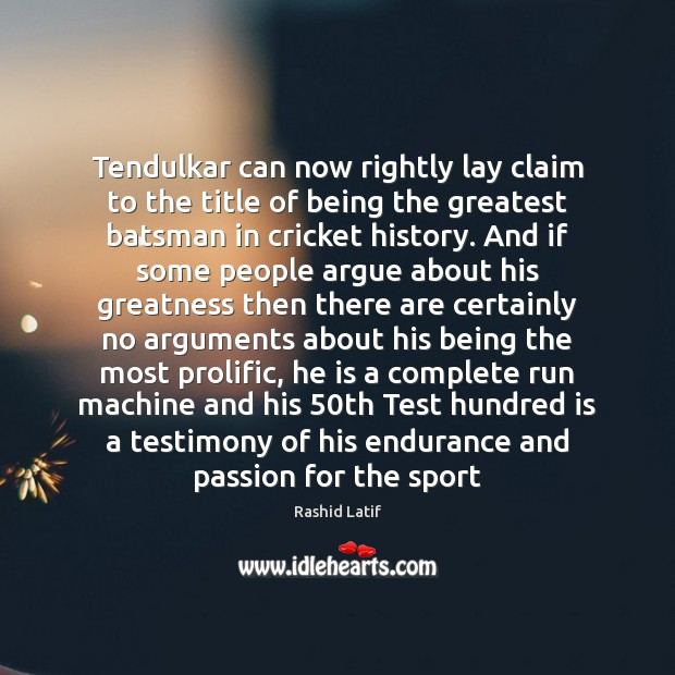 Tendulkar can now rightly lay claim to the title of being the Image