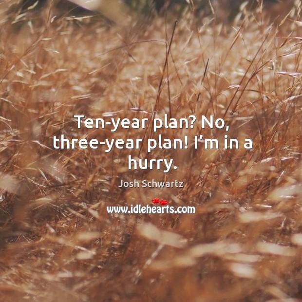 Image, Ten-year plan? no, three-year plan! I'm in a hurry.