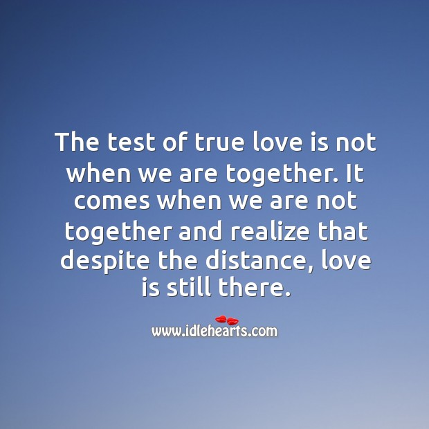 Test of true love. Realize Quotes Image