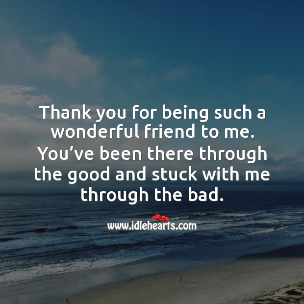 Thank you for being such a wonderful friend to me. Thank You Messages Image