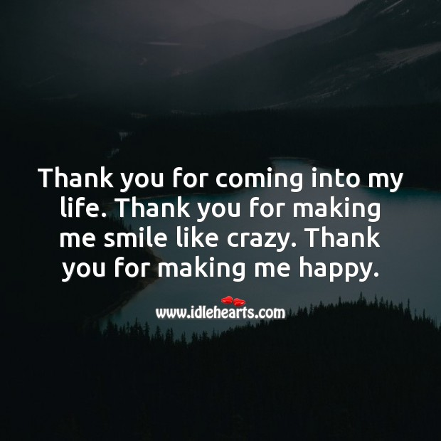 Thank you for coming into my life. Wedding Quotes Image