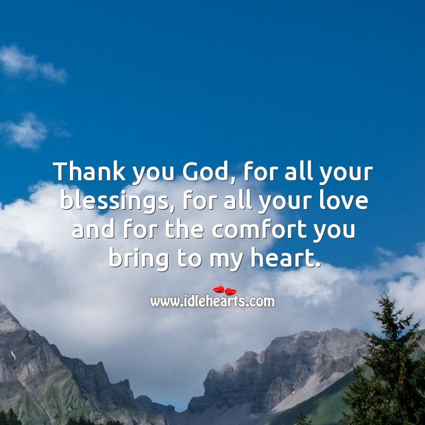 Thank you God, for all your blessings Thank You God Quotes Image