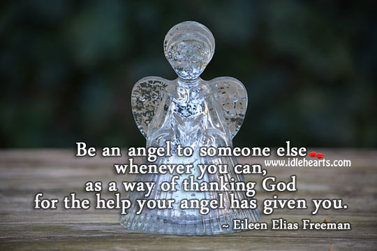 Image, Be an angel to someone