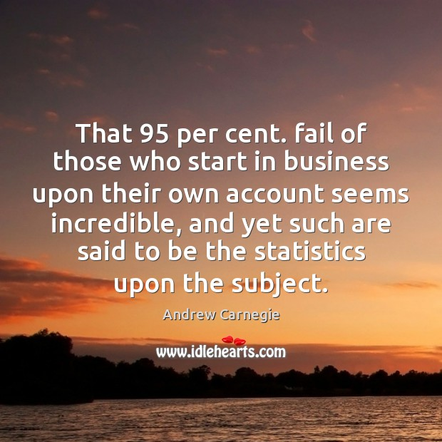 Image, That 95 per cent. fail of those who start in business upon their