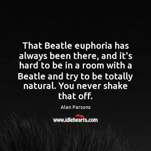 Image, That Beatle euphoria has always been there, and it's hard to be
