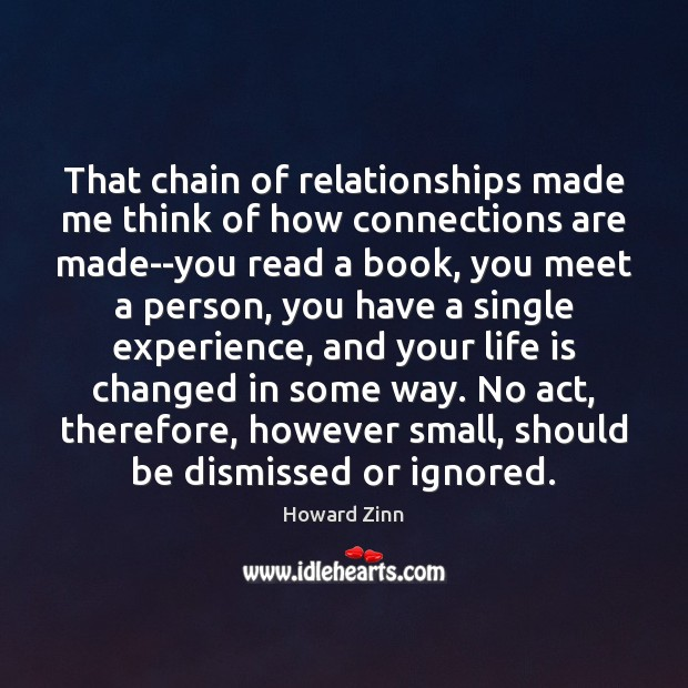 Image, That chain of relationships made me think of how connections are made–you