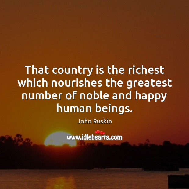 Image, That country is the richest which nourishes the greatest number of noble