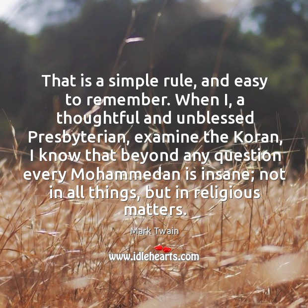 Image, That is a simple rule, and easy to remember. When I, a