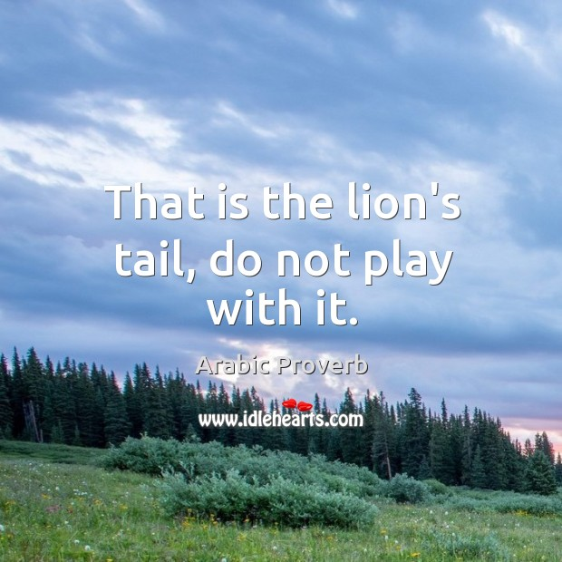 Image, That is the lion's tail, do not play with it.