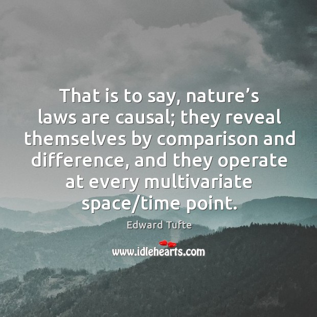 That is to say, nature's laws are causal; Image