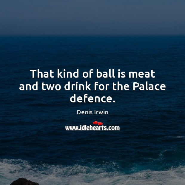 That kind of ball is meat and two drink for the Palace defence. Image