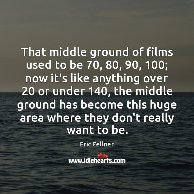Image, That middle ground of films used to be 70, 80, 90, 100; now it's like anything