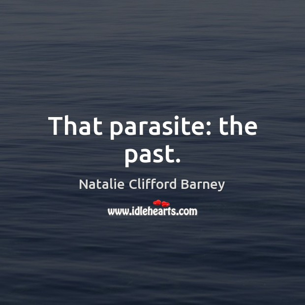 Image, That parasite: the past.