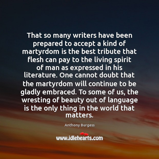 Image, That so many writers have been prepared to accept a kind of