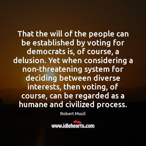 That the will of the people can be established by voting for Image