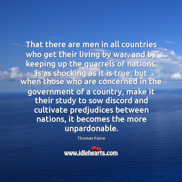 Image, That there are men in all countries who get their living by