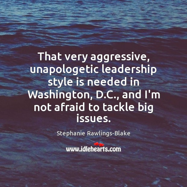 Image, That very aggressive, unapologetic leadership style is needed in Washington, D.C.,