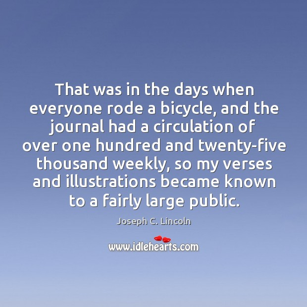 That was in the days when everyone rode a bicycle Image