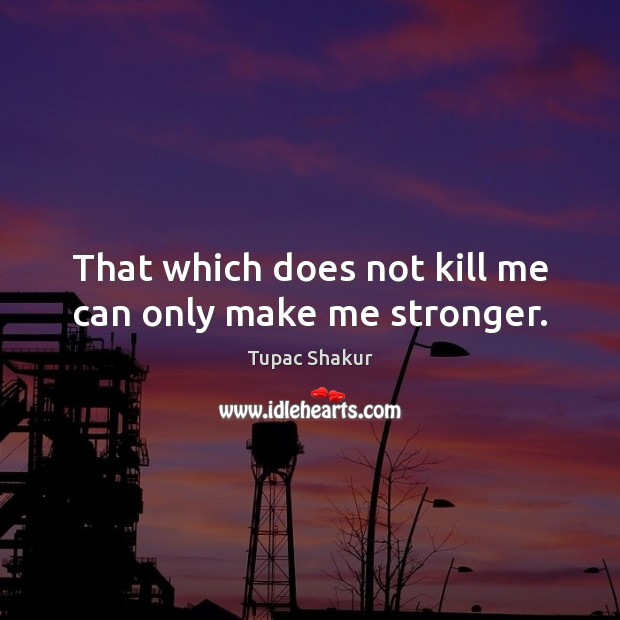 That which does not kill me can only make me stronger. Image