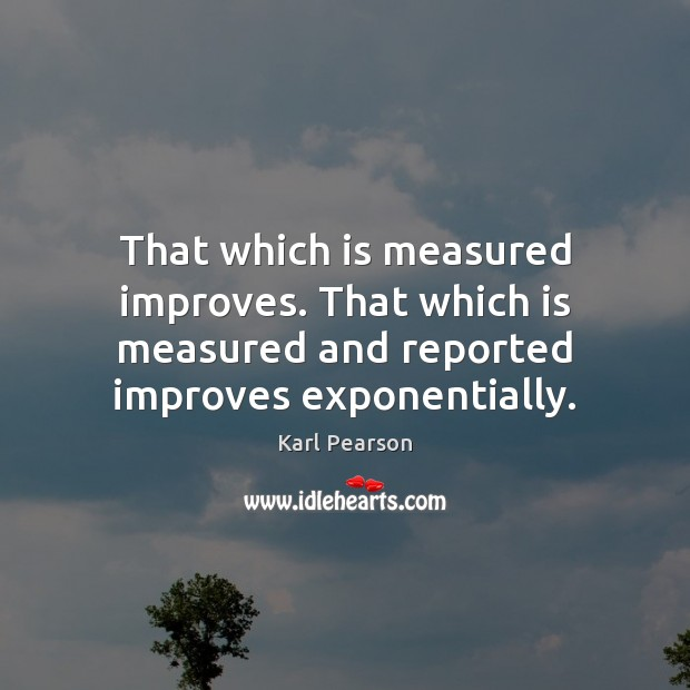 That which is measured improves. That which is measured and reported improves Image