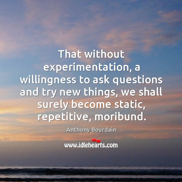 That without experimentation, a willingness to ask questions and try new things, Image