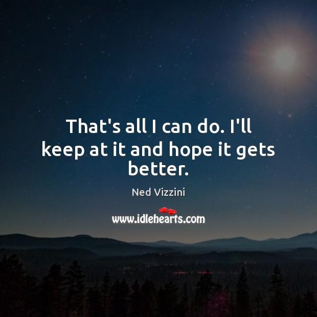 That's all I can do. I'll keep at it and hope it gets better. Image