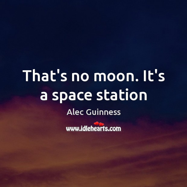 Image, That's no moon. It's a space station