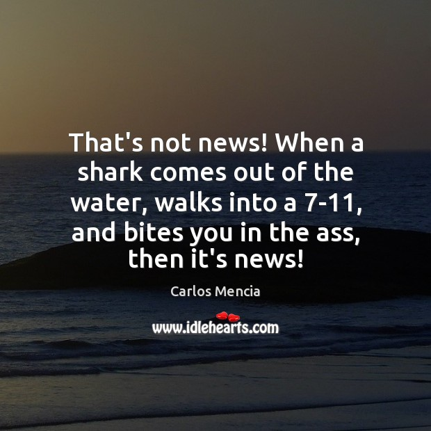 That's not news! When a shark comes out of the water, walks Image