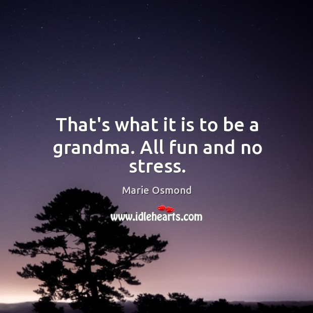 That's what it is to be a grandma. All fun and no stress. Image