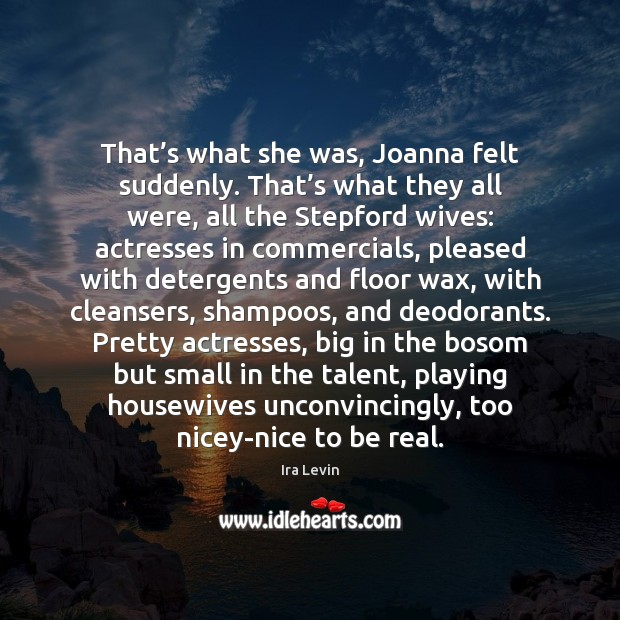 That's what she was, Joanna felt suddenly. That's what they Image