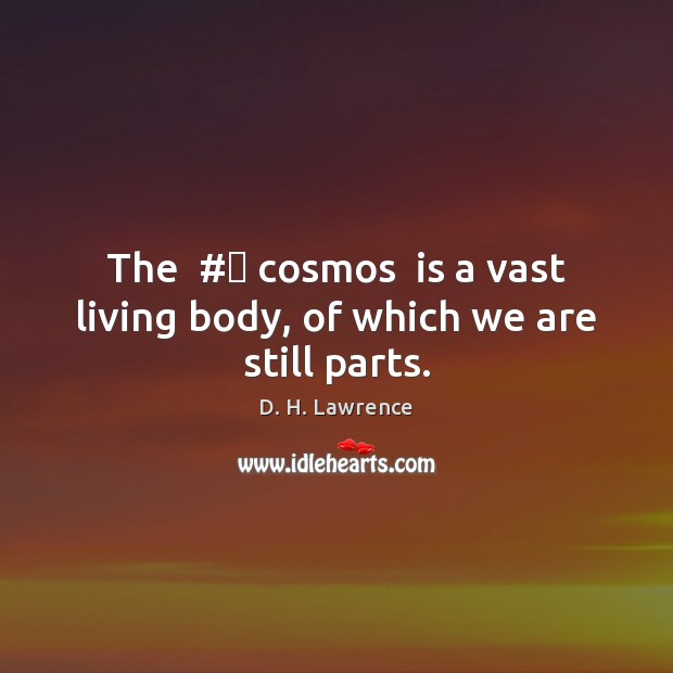 The  # cosmos  is a vast living body, of which we are still parts. Image
