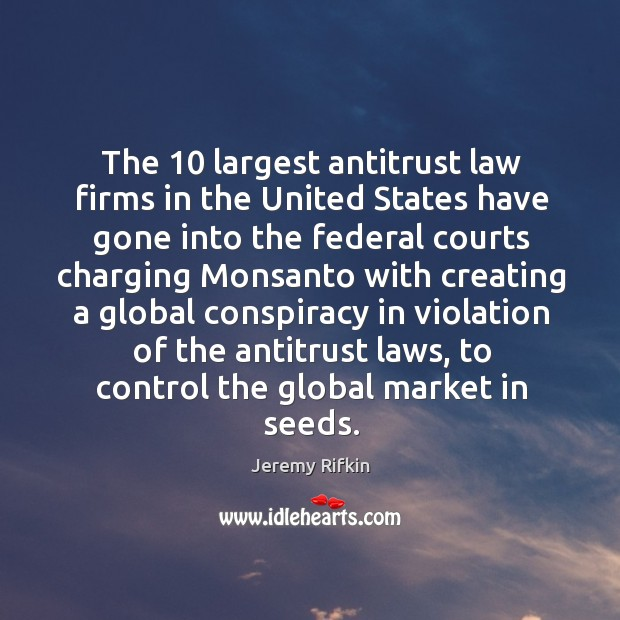 Image, The 10 largest antitrust law firms in the united states have gone into
