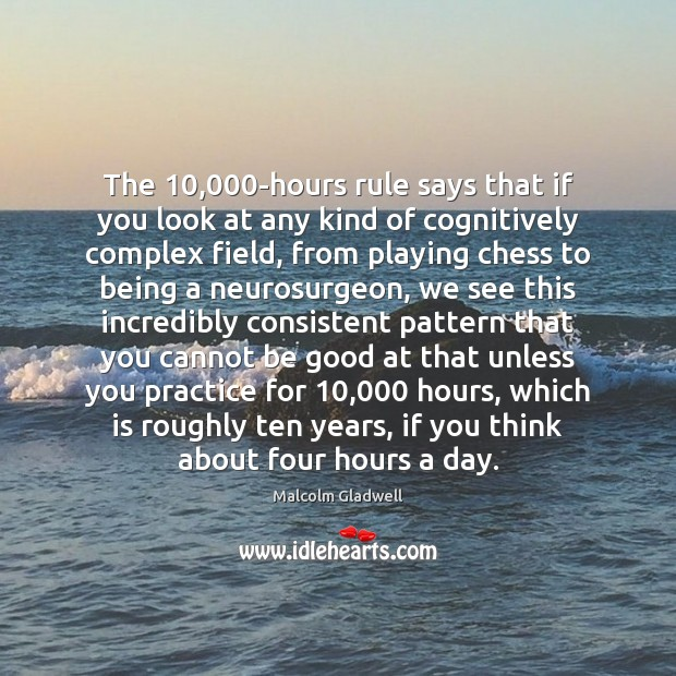 Image, The 10,000-hours rule says that if you look at any kind of