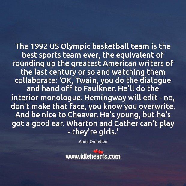 The 1992 US Olympic basketball team is the best sports team ever, the Image