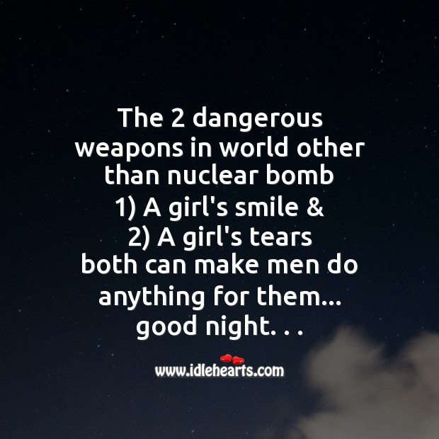 Image, The 2 dangerous weapons in world other