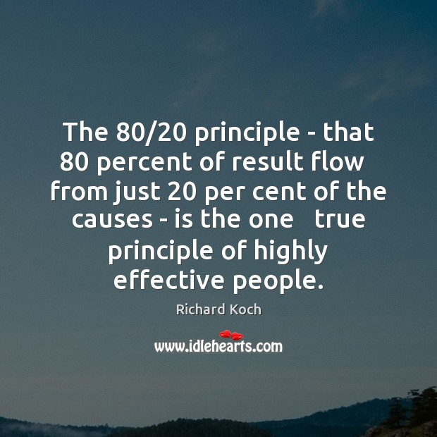 Image, The 80/20 principle – that 80 percent of result flow   from just 20 per cent