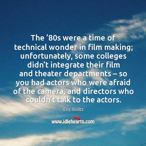 Image, The '80s were a time of technical wonder in film making; unfortunately